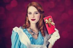 Portret młoda rudzielec kobieta Zdjęcie Royalty Free