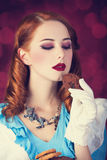 Portret młoda rudzielec kobieta Obrazy Royalty Free