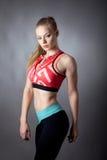 Portret młoda sporty dziewczyna Fotografia Royalty Free