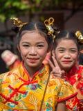 Portret młoda tajlandzka dziewczyna bangkok Thailand Obrazy Royalty Free