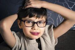 Portret młode dziecko z Rett syndromem Zdjęcia Royalty Free