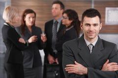 Portret młody biznesmen zdjęcia royalty free