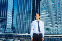 Portret Młody biznesmen w Nowy Jork Obraz Stock