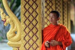 Portret młody mnich buddyjski Zdjęcia Royalty Free