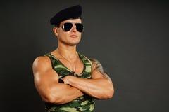 Portret młody wojskowy Obraz Stock