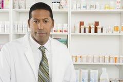 Portret Męska farmaceuta Zdjęcia Royalty Free
