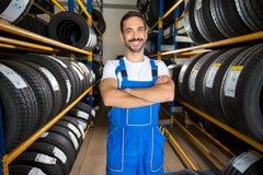Portret męski auto mechanik Obrazy Royalty Free