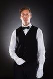 Portret Męski kelner Obrazy Stock