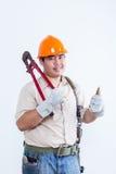 Portret męski mechanik Fotografia Royalty Free