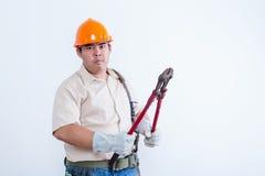 Portret męski mechanik Obrazy Stock