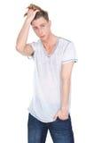 Portret męski moda model Zdjęcia Royalty Free