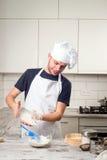 Portret męski szef kuchni Zdjęcie Stock