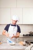 Portret męski szef kuchni Obraz Royalty Free