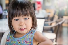 Portret mała śliczna azjatykcia dziewczyna Obraz Royalty Free