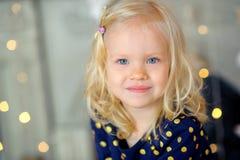 Portret mała piękna dziewczyna Zdjęcie Stock