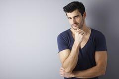 Portret macho mężczyzna Zdjęcia Royalty Free