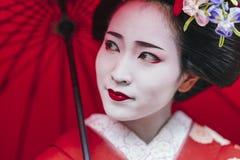Portret Maiko gejsza w Gion Kyoto obrazy stock