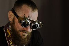Portret of man in steampunk outfit Stock Photography