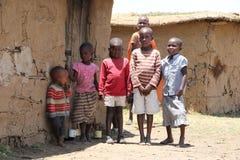 Portret massai dzieciaki zdjęcia stock