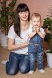 Portret Matka i Córka Fotografia Royalty Free