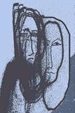 Portret met de stiefmoeder Stock Fotografie