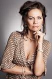 Portret met halsband Stock Fotografie