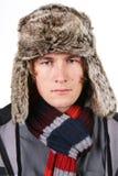 Portret met hoed Stock Afbeeldingen
