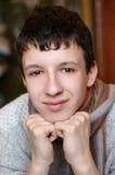 Portret met sjaal Stock Foto