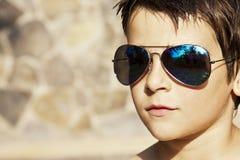 Portret met zonnebril royalty-vrije stock afbeeldingen