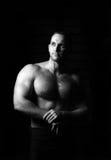 Portret mięśniowa mężczyzna pozycja Obrazy Royalty Free