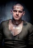 Portret mięśniowy młody człowiek Fotografia Stock