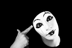 Portret of the mime Stock Photo