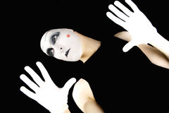 Portret of the mime Stock Image