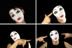 Portret of the mime Royalty Free Stock Photos