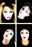 Portret of the mime. Close up Royalty Free Stock Photography