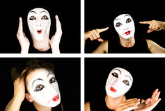 Portret of the mime Stock Images