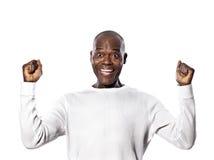 Portret mimik Amerykański mężczyzna sukcesu mimik zdjęcia royalty free