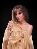 Portret młoda piękna dama Obrazy Royalty Free