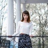 Portret modna brunetki dziewczyna Zdjęcia Stock