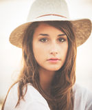 Portret Modna Elegancka modniś kobieta zdjęcia stock