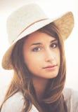 Portret Modna Elegancka modniś kobieta zdjęcia royalty free