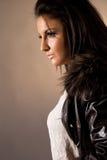 portret modne kobiety Fotografia Royalty Free