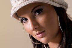portret modne kobiety Obrazy Royalty Free