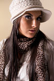 portret modne kobiety Obraz Royalty Free