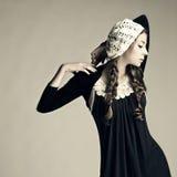 Portret mody świeża piękna dziewczyna. Fotografia Royalty Free