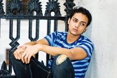 Portret młody azjatykci facet Zdjęcia Stock