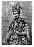 Portret Monctezuma II cesarz Meksyk royalty ilustracja