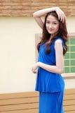 Portret mooi Aziatisch Meisje Stock Foto's