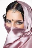 Portret mooi Indisch meisje royalty-vrije stock foto
