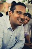Portret Mr. s.C.Mittal, założyciel Pushpanjali Trad Obrazy Stock